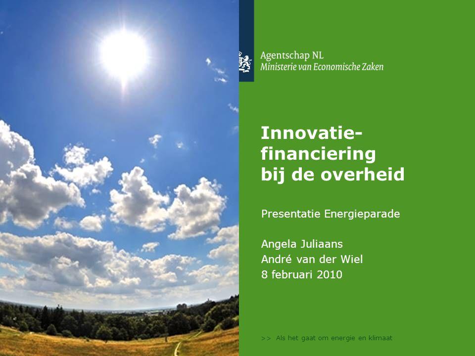 Innovatie- financiering bij de overheid