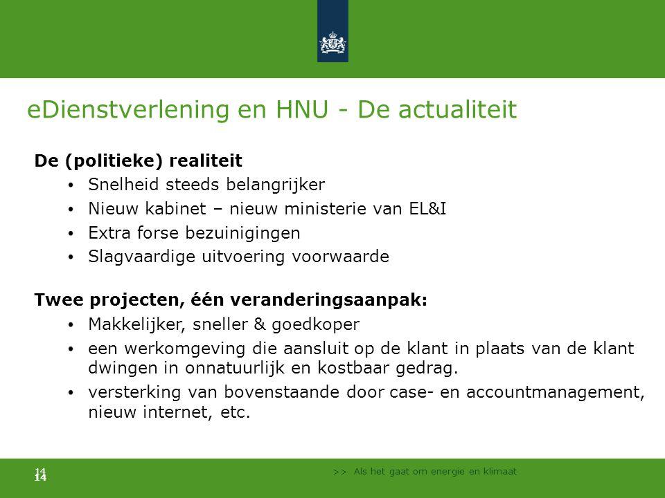 eDienstverlening en HNU - De actualiteit
