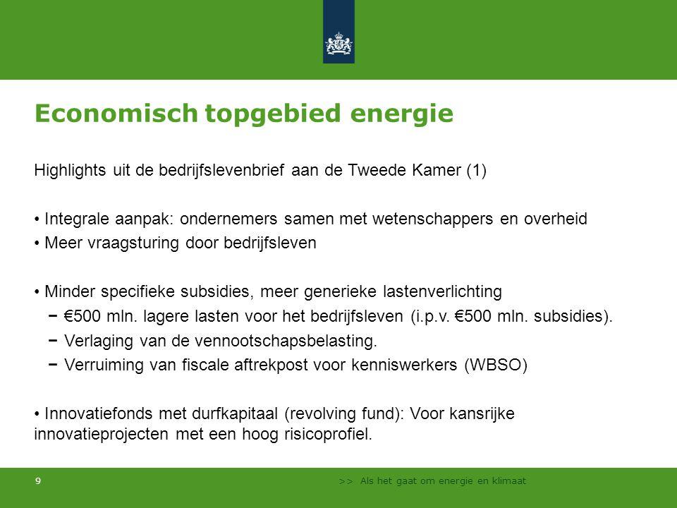 Economisch topgebied energie