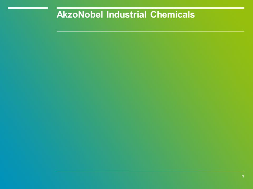 The three business areas of AkzoNobel
