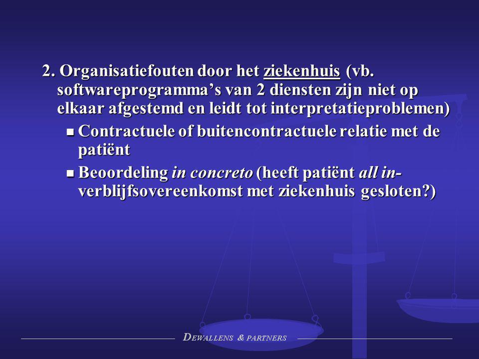 2. Organisatiefouten door het ziekenhuis (vb