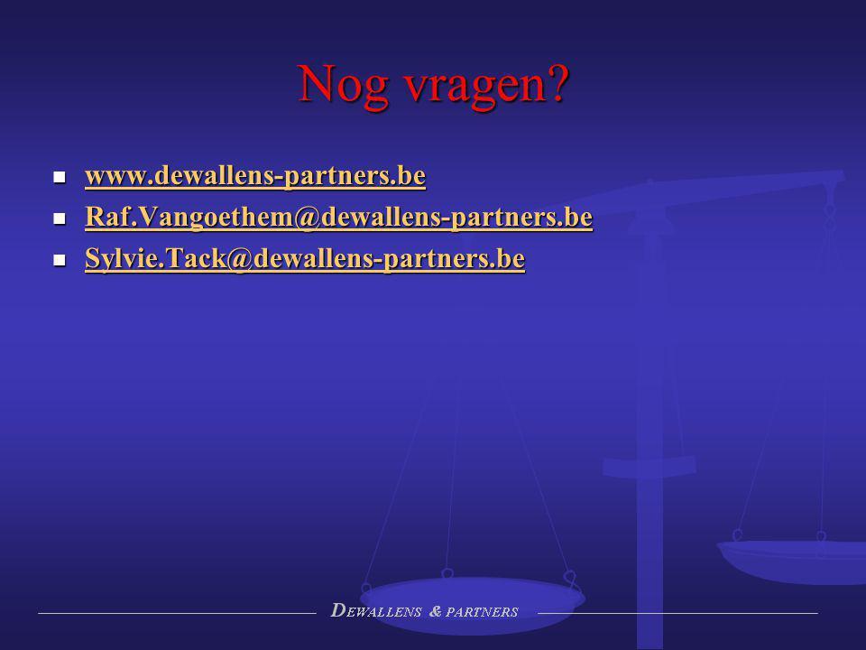Nog vragen www.dewallens-partners.be