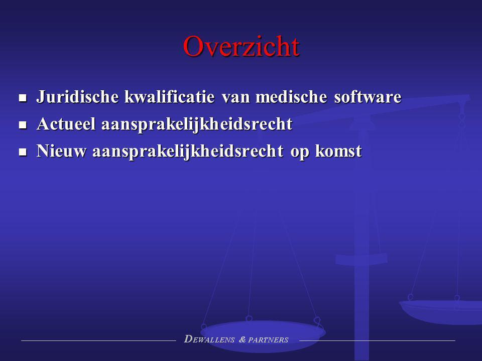 Overzicht Juridische kwalificatie van medische software