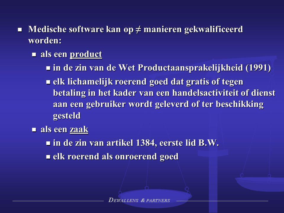 Medische software kan op ≠ manieren gekwalificeerd worden: