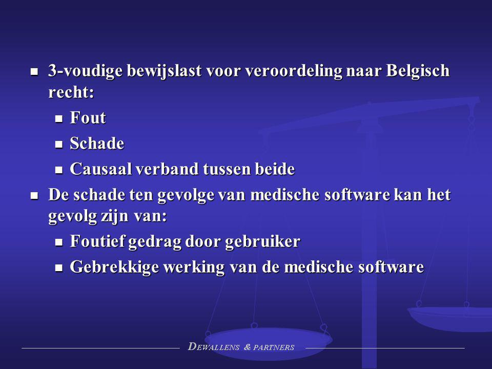 3-voudige bewijslast voor veroordeling naar Belgisch recht: