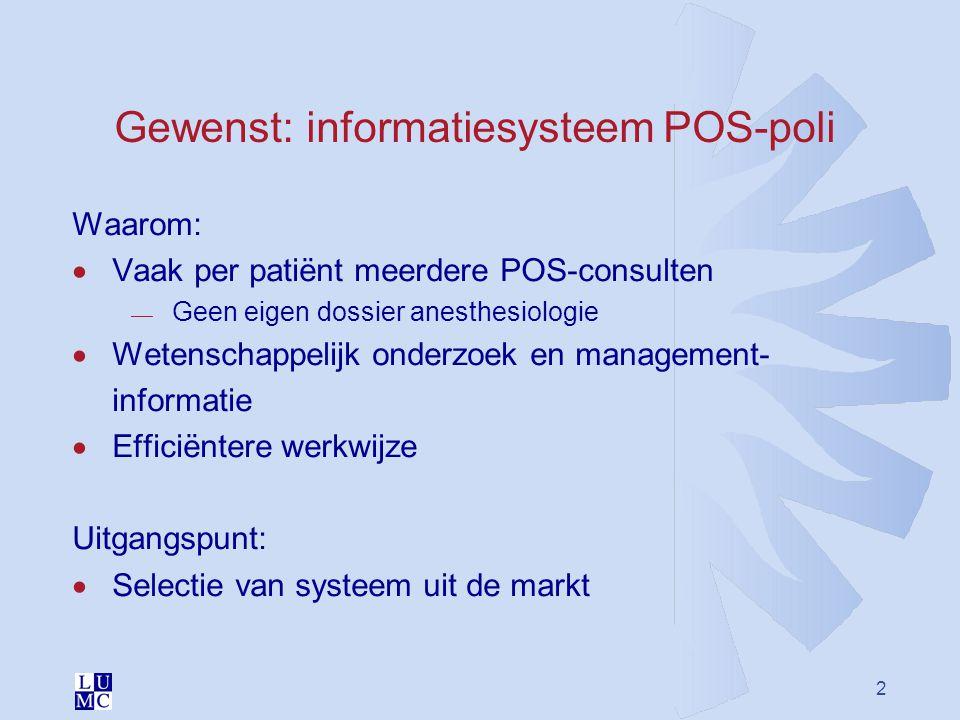 Gewenst: informatiesysteem POS-poli