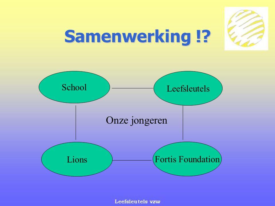 Samenwerking ! Onze jongeren School Leefsleutels Lions