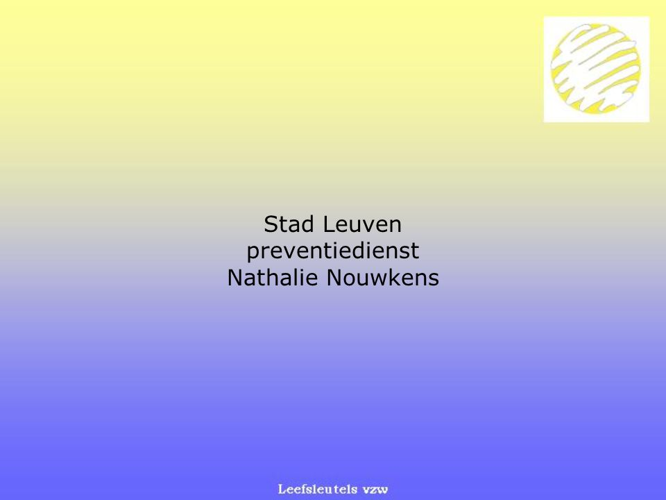 Stad Leuven preventiedienst
