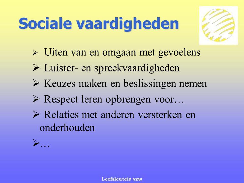 Sociale vaardigheden Luister- en spreekvaardigheden