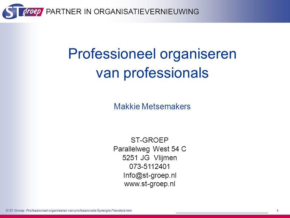 Professioneel organiseren van professionals