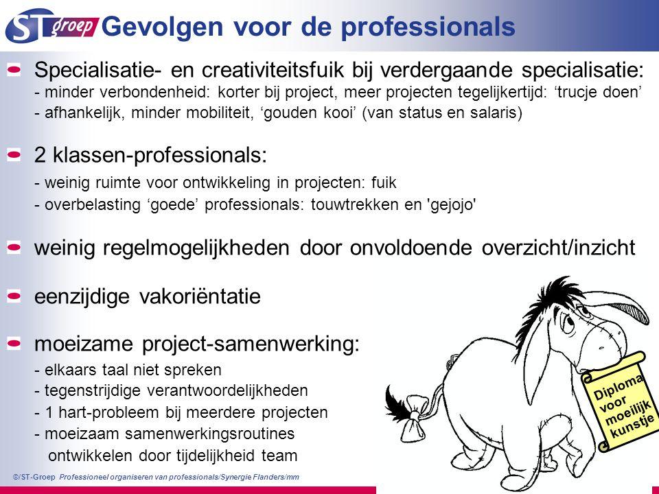 Gevolgen voor de professionals