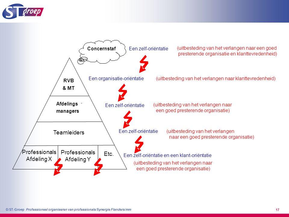 Teamleiders Professionals Etc. Afdeling X Afdeling Y Afdelings