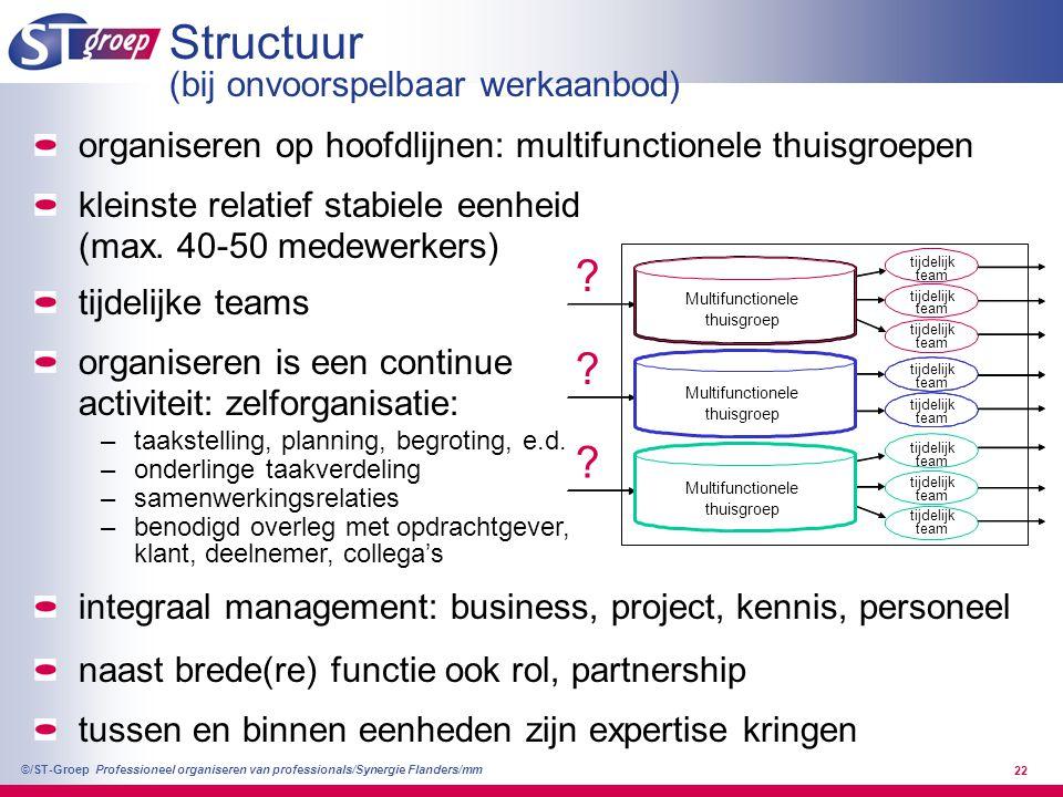 Structuur (bij onvoorspelbaar werkaanbod)