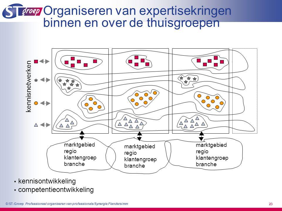 Organiseren van expertisekringen binnen en over de thuisgroepen