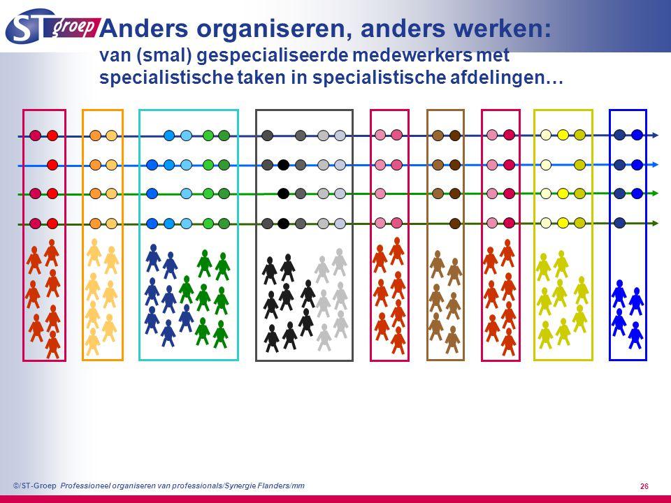 Anders organiseren, anders werken: van (smal) gespecialiseerde medewerkers met specialistische taken in specialistische afdelingen…