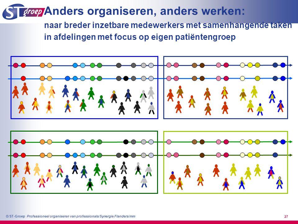 Anders organiseren, anders werken: naar breder inzetbare medewerkers met samenhangende taken in afdelingen met focus op eigen patiëntengroep
