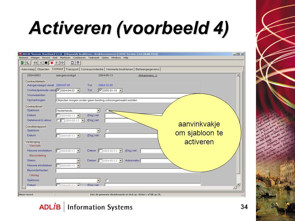 Activeren (voorbeeld 4)
