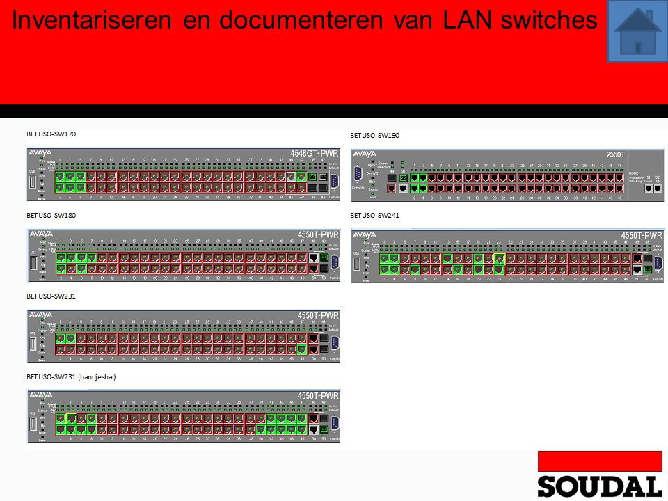 Inventariseren en documenteren van LAN switches