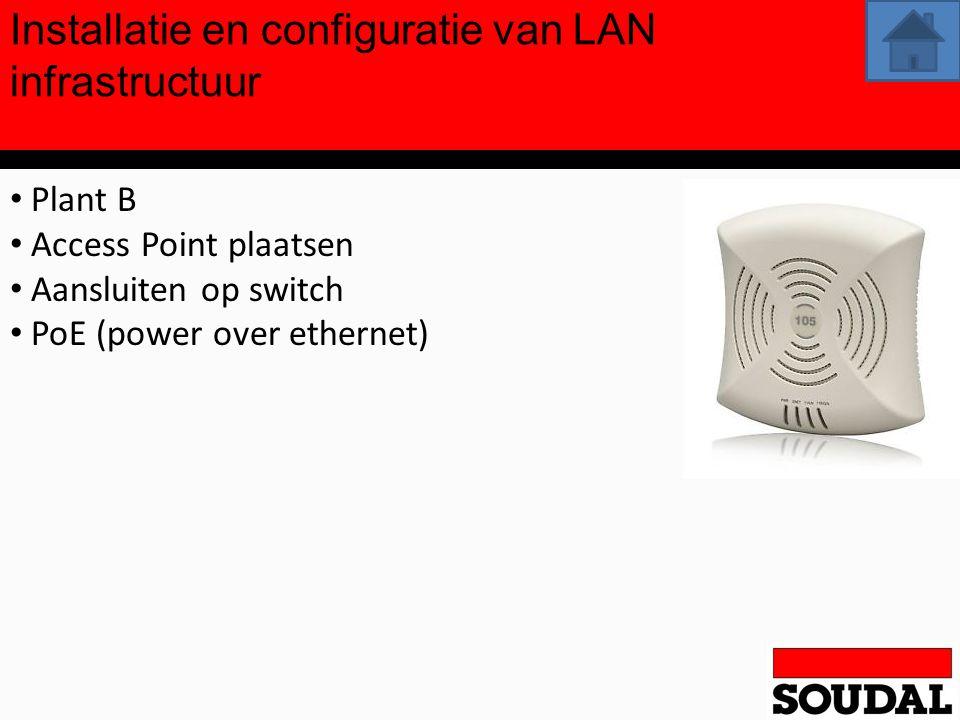 Installatie en configuratie van LAN infrastructuur