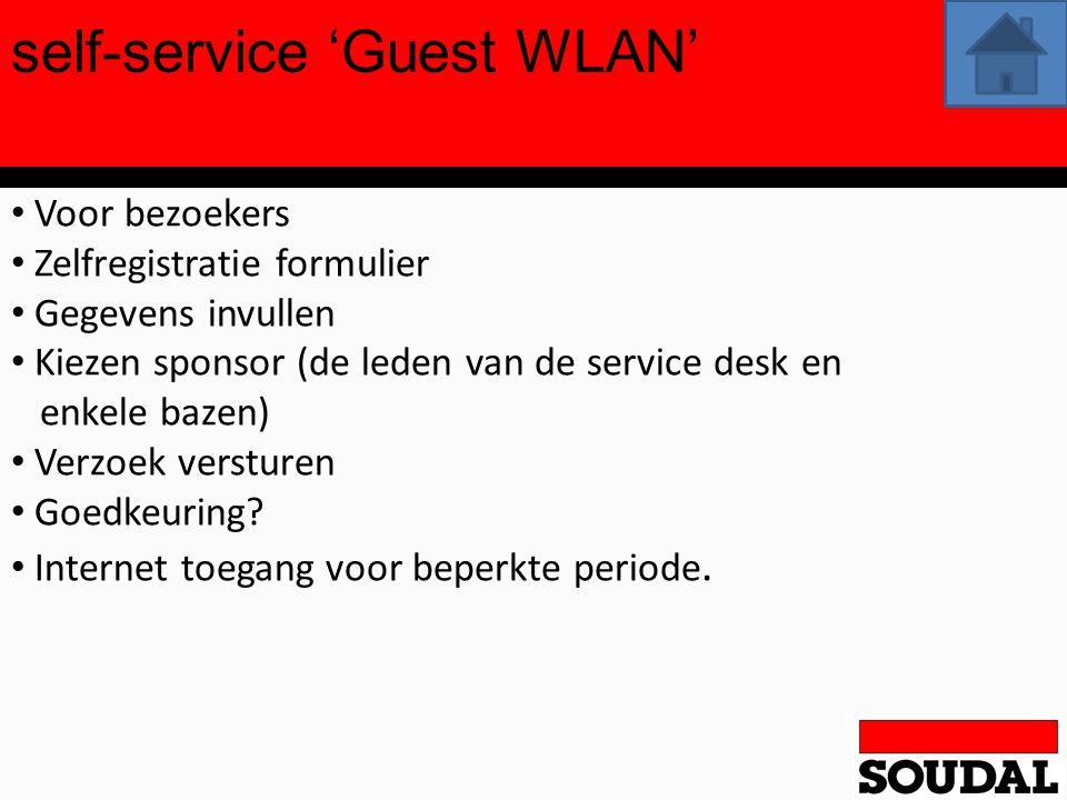self-service 'Guest WLAN'