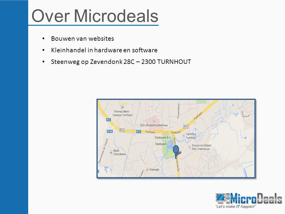 Over Microdeals Bouwen van websites