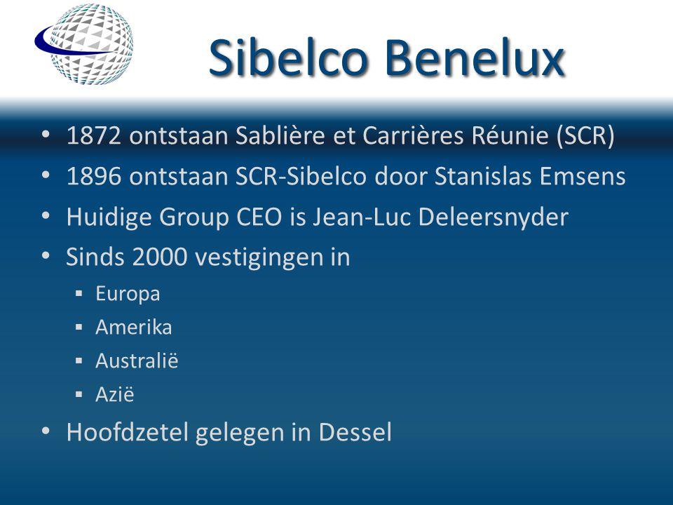 Sibelco Benelux 1872 ontstaan Sablière et Carrières Réunie (SCR)