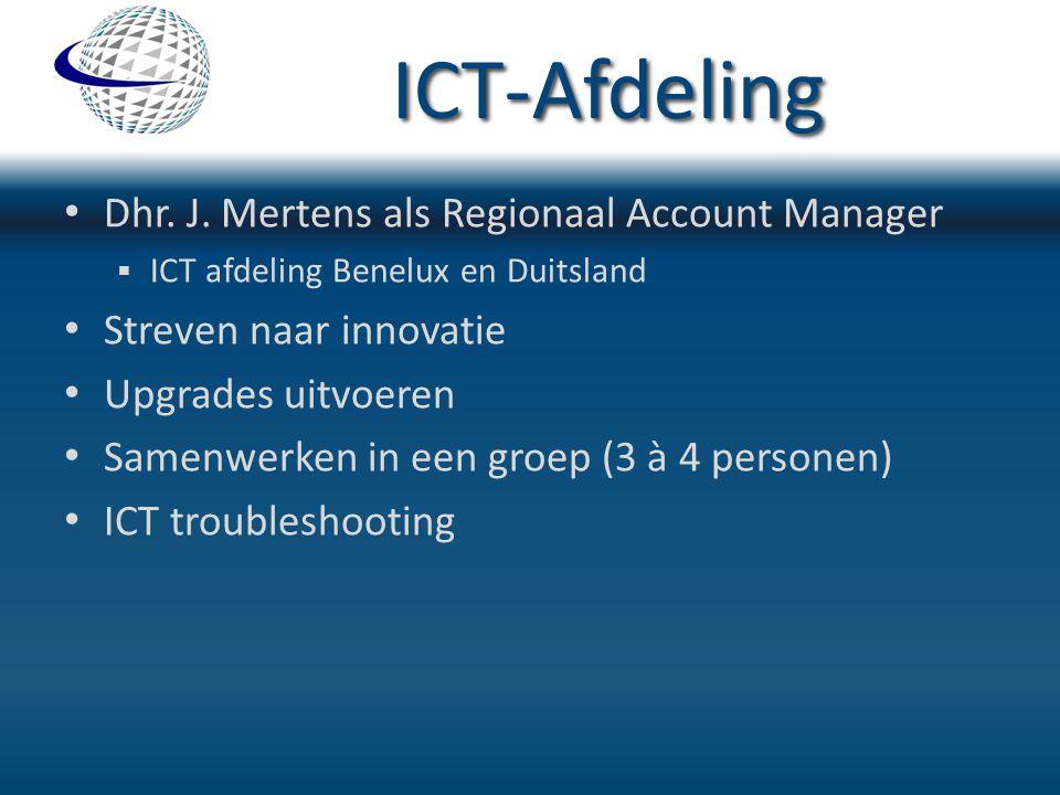 ICT-Afdeling Dhr. J. Mertens als Regionaal Account Manager