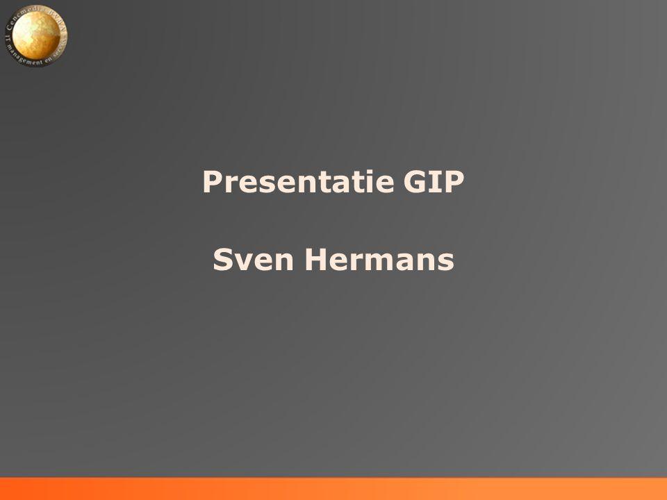 Presentatie GIP Sven Hermans