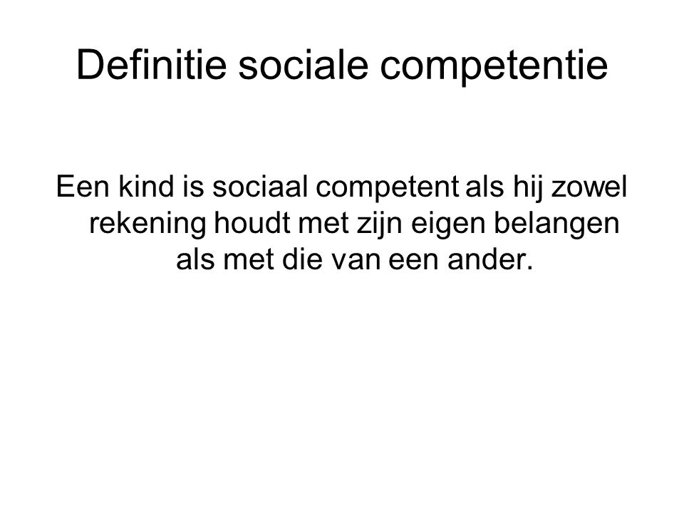 Definitie sociale competentie
