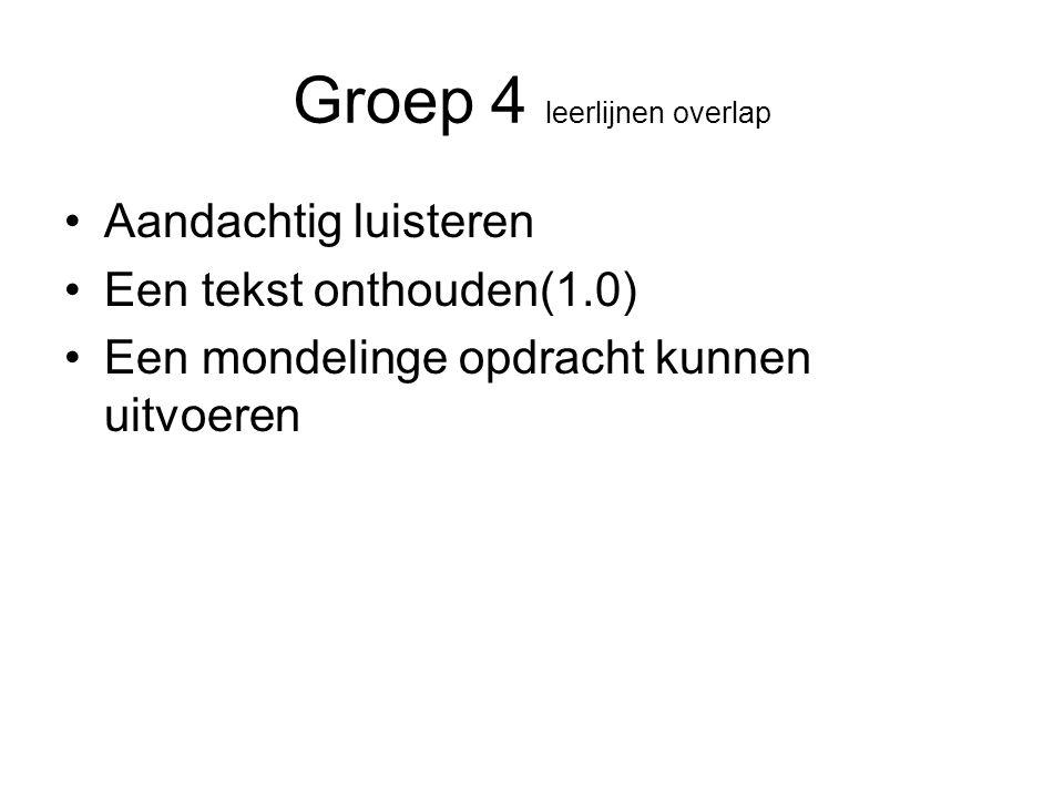 Groep 4 leerlijnen overlap