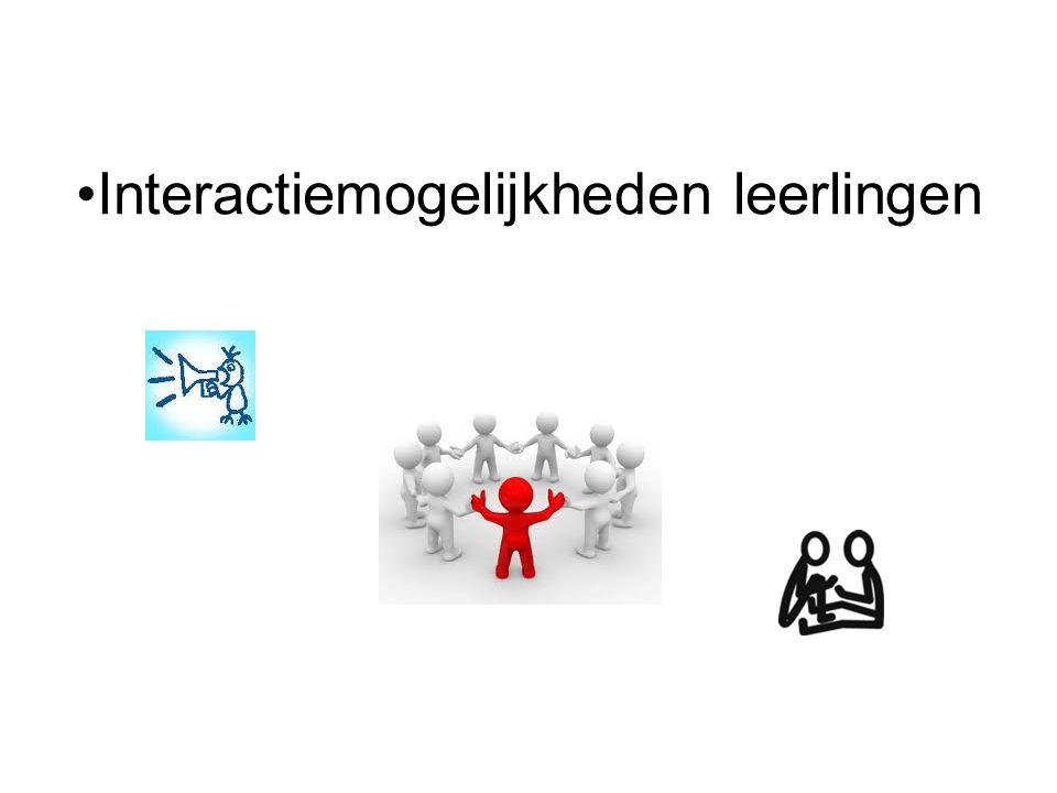 Interactiemogelijkheden leerlingen