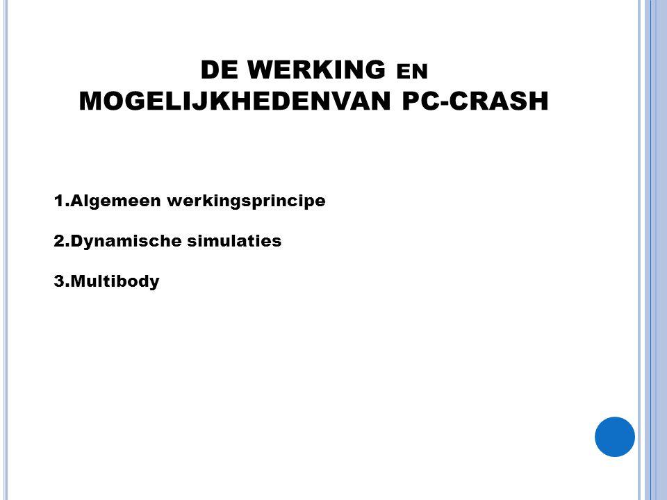 DE WERKING en MOGELIJKHEDENVAN PC-CRASH