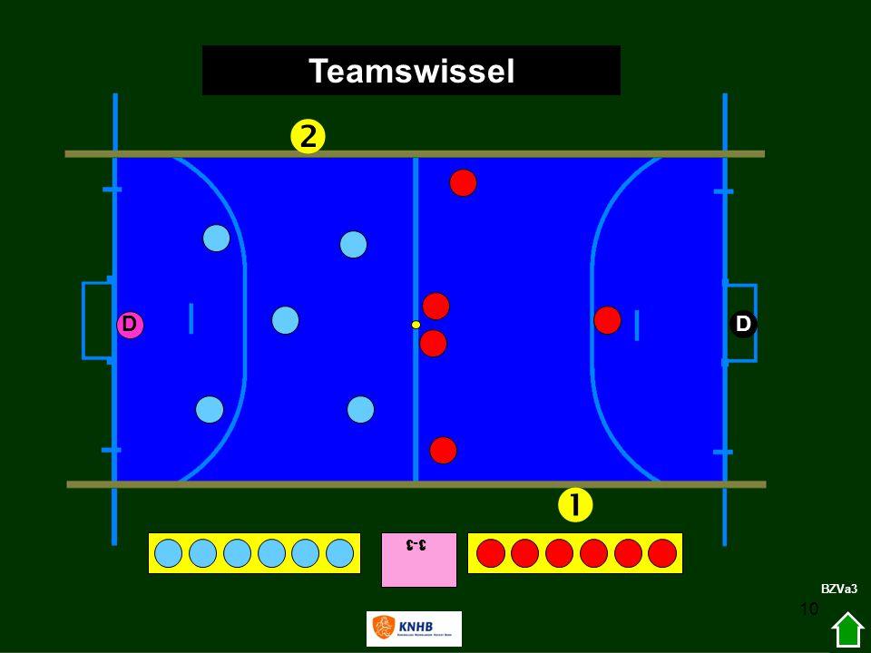 Teamswissel  D D  3-1 1-3 BZVa3