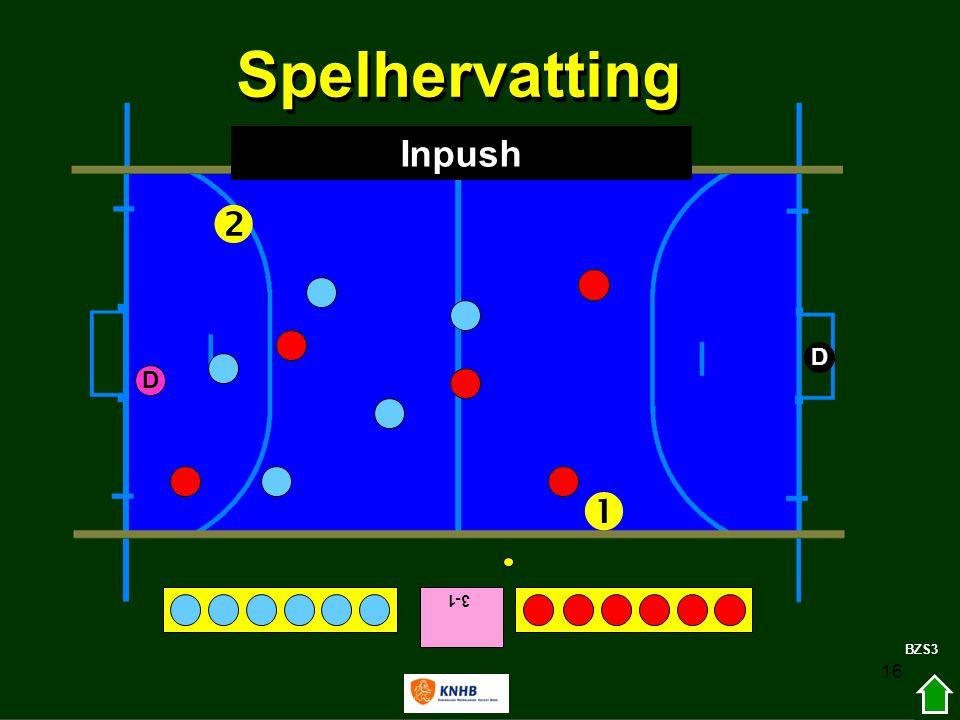 Spelhervatting Inpush  D D  3-1 BZS3