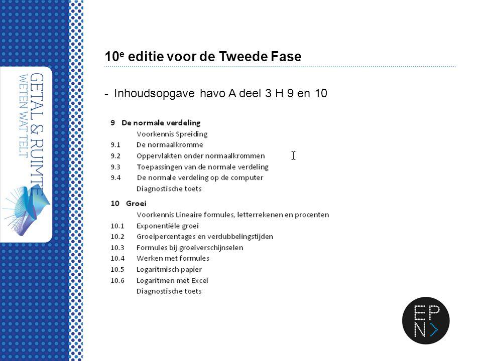 10e editie voor de Tweede Fase