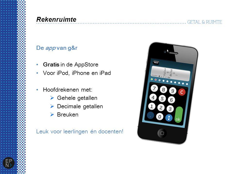 Rekenruimte De app van g&r Gratis in de AppStore