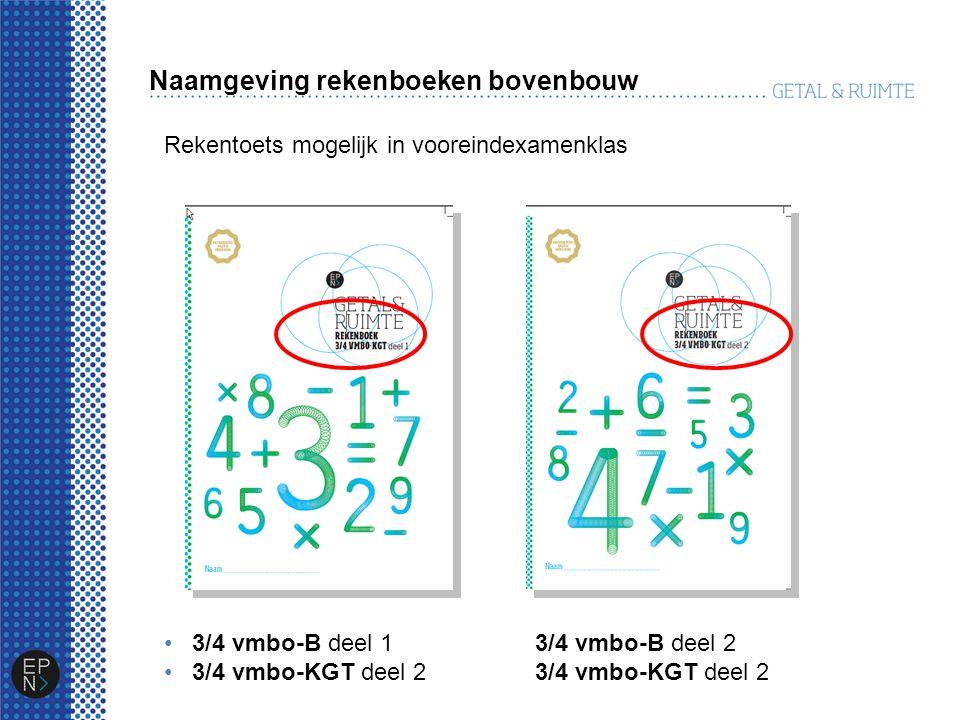 Naamgeving rekenboeken bovenbouw