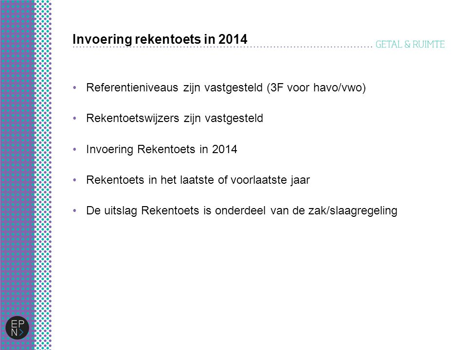 Invoering rekentoets in 2014