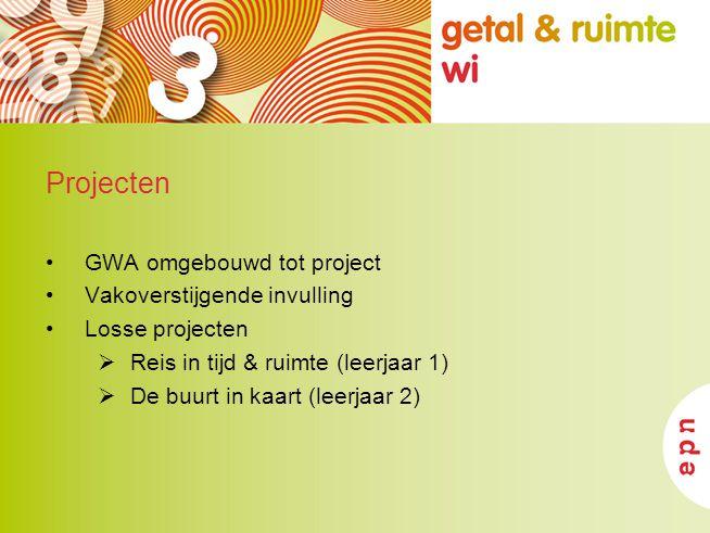 Projecten GWA omgebouwd tot project Vakoverstijgende invulling