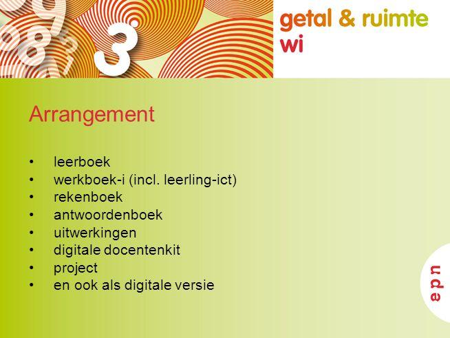 Arrangement leerboek werkboek-i (incl. leerling-ict) rekenboek