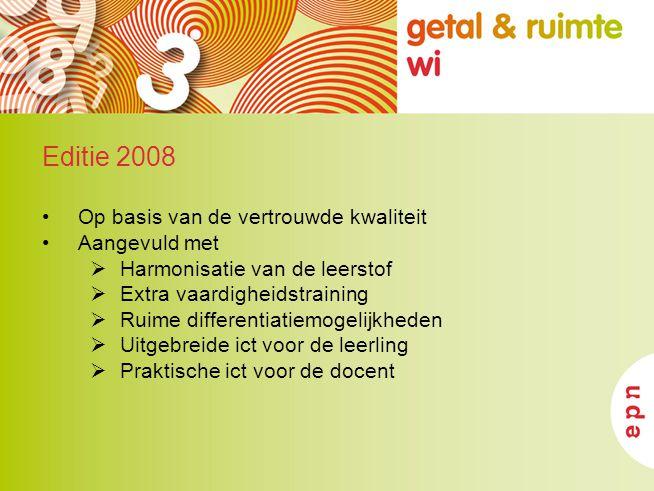 Editie 2008 Op basis van de vertrouwde kwaliteit Aangevuld met