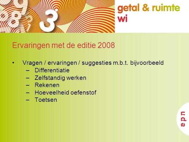 Ervaringen met de editie 2008
