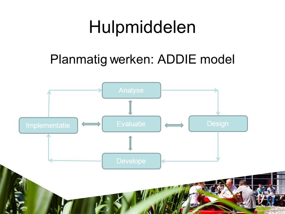 Planmatig werken: ADDIE model