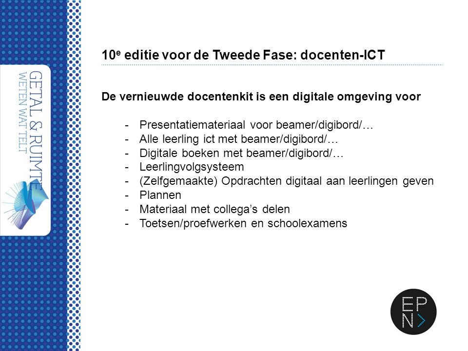 10e editie voor de Tweede Fase: docenten-ICT