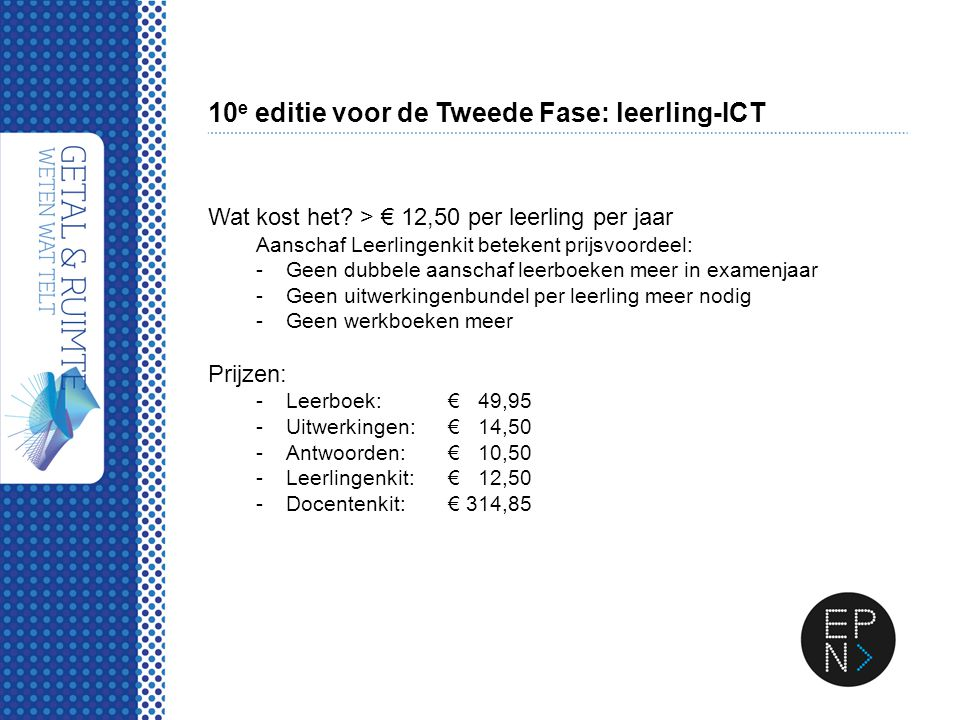 10e editie voor de Tweede Fase: leerling-ICT