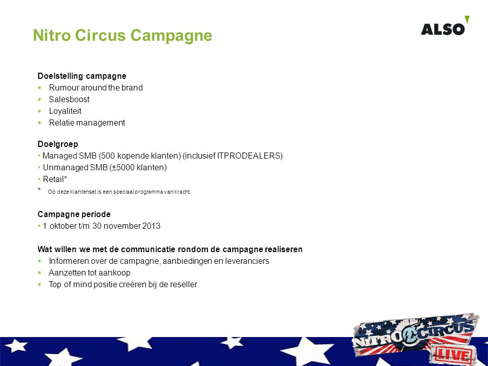 Nitro Circus Campagne Doelstelling campagne Rumour around the brand