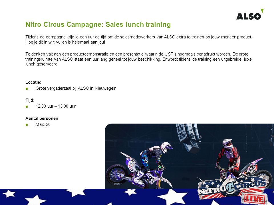 Nitro Circus Campagne: Sales lunch training