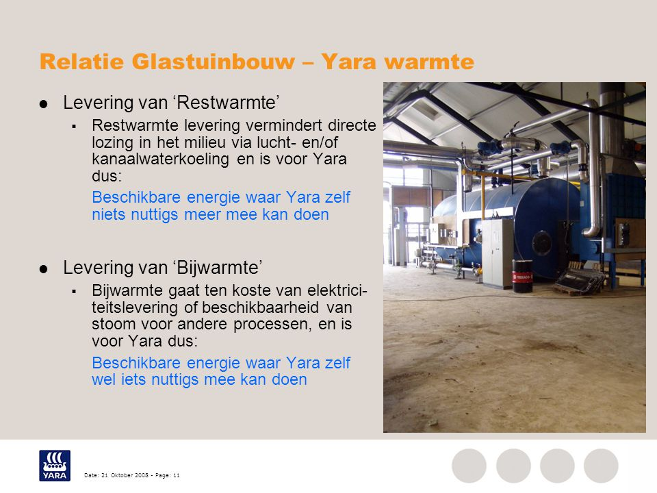 Relatie Glastuinbouw – Yara warmte