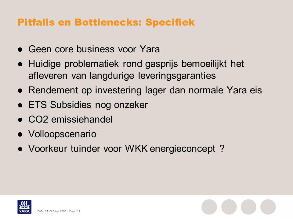 Pitfalls en Bottlenecks: Specifiek