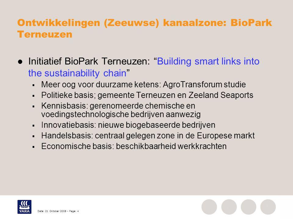 Ontwikkelingen (Zeeuwse) kanaalzone: BioPark Terneuzen